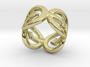 Coming Out Ring 17 – Italian Size 17 in 18k Gold Plated Brass