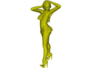 1/18 scale nose-art striptease dancer figure A in Frosted Ultra Detail