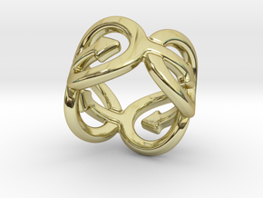 Coming Out Ring 23 – Italian Size 23 in 18k Gold Plated Brass
