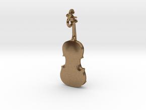 Violin Pendant in Natural Brass