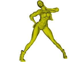 1/24 scale nose-art striptease dancer figure B in Frosted Ultra Detail