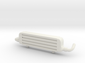 Front Mount Intercooler for Hot Wheels Cars in White Strong & Flexible