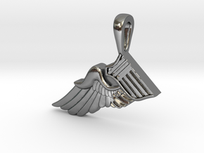 The Broken Wing in Polished Silver