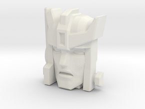 Autobot-X / Autobot Spike Face (Titans Return) in White Strong & Flexible