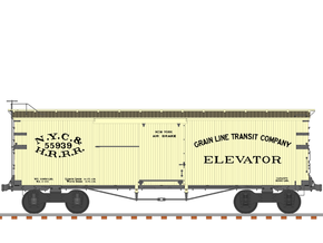 "NYC&HR 35' Boxcar with 20"" Running Board in Smooth Fine Detail Plastic"