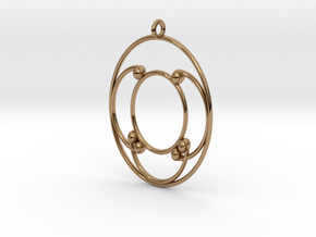 Oval Pendant in Polished Brass