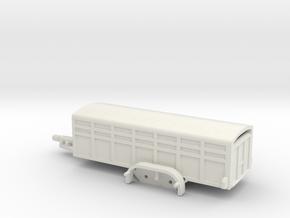1038 Tieranhänger HO in White Natural Versatile Plastic: 1:87 - HO