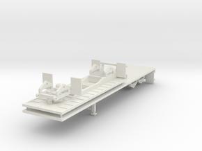 000461 Flachbett B Double 2 Trailer 40 + 20 in White Natural Versatile Plastic: 1:87 - HO