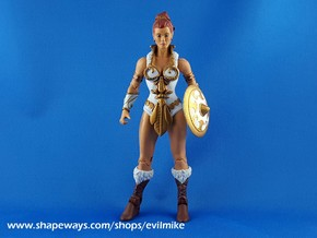 Mini Comic Female Shield in White Strong & Flexible Polished