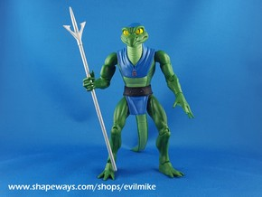 Reptile Men Spear in White Processed Versatile Plastic