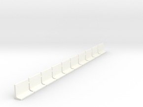 N Scale Retaining Walls 1500mm 10pc in White Strong & Flexible Polished