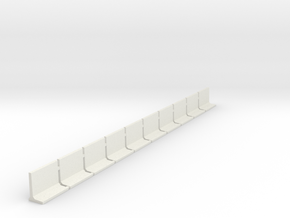 N Scale Retaining Walls 1500mm 10pc in White Natural Versatile Plastic