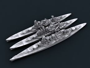 1/3000 WW2 Royal Navy Battlecruisers in Smooth Fine Detail Plastic