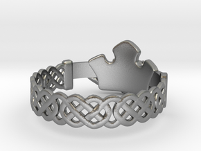 Claddagh Ring in Raw Silver: 8.5 / 58