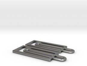 Simple Rectangles - Architectural Earrings in Polished Silver
