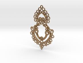 BlakOpal Linked Earring in Interlocking Raw Brass