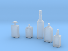 1/24 1/25 Liquor bottles for diorama in Smooth Fine Detail Plastic