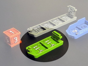 Cargo ships (4 pcs) in Green Strong & Flexible Polished
