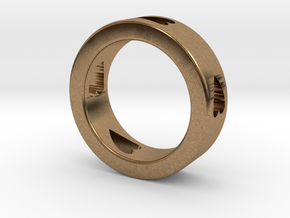 LOVE RING Size-12 in Natural Brass