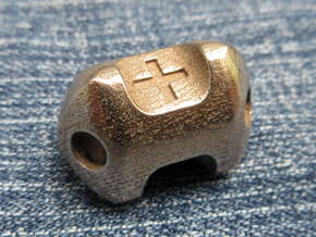 Metal fudge die in Polished Bronzed Silver Steel