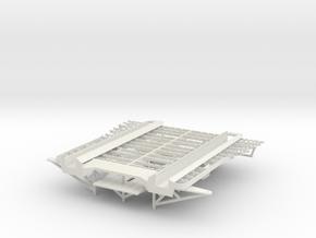 Graf Zeppelin 1:100 Flugdeck Bug mit Streben in White Strong & Flexible: 1:100