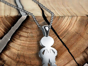 My Special Boy Pendant (Personalisation available) in Rhodium Plated Brass