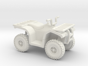 HO Scale Quad ATV in White Natural Versatile Plastic