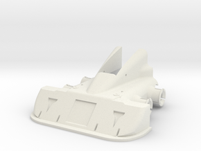 CW Dragstrip Front Spoiler pt1 - Spoiler in White Strong & Flexible