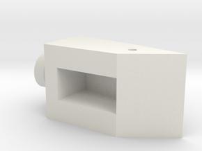 CW Dragstrip Front Spoiler pt3 - Hinge Mushroom in White Natural Versatile Plastic