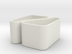 Købke 2-in-1 Planter/Container in White Natural Versatile Plastic