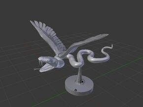 Flying Snake in White Natural Versatile Plastic