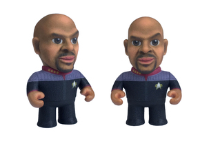 Sisko Star Trek Caricature in Full Color Sandstone
