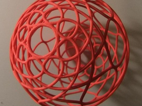 Christmas Tree Ornament- 3D Curve in Red Processed Versatile Plastic