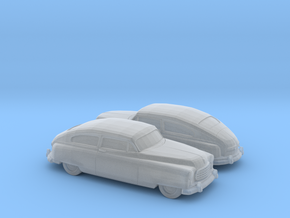 1/160 2X 1949-50 Nash Ambassador Coupe in Smooth Fine Detail Plastic