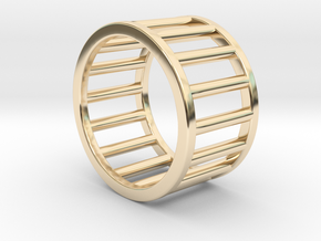 Albaro Ring Size-4 in 14k Gold Plated Brass