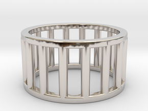 Albaro Ring Size-5 in Rhodium Plated Brass
