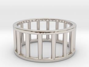 Albaro Ring- Size,9 in Rhodium Plated Brass