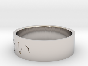 Ring Japanese character means Languid in Rhodium Plated Brass: 7 / 54