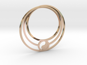 Yin Yang Mobius in 14k Rose Gold: Extra Small
