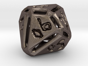 Rough Poly D00 in Polished Bronzed Silver Steel