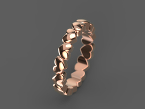 "Stackable ""Throbs"" Ring in 14k Rose Gold: 6 / 51.5"