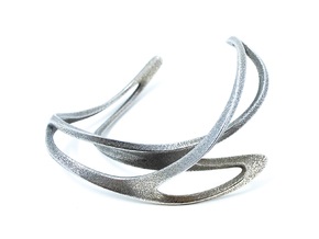Mahuika Cuff in Polished Bronzed Silver Steel: Extra Small