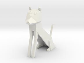 Folded Sculpture Dogs, Border Collie in White Natural Versatile Plastic