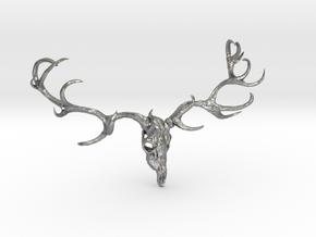 Deer bone head  in Natural Silver