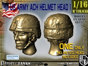 1-16 US Army ACH HELMET Head 1 in Frosted Ultra Detail