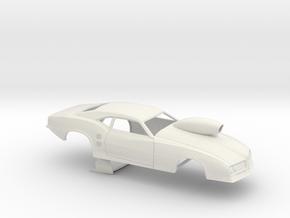 1/24 68 Firebird Pro Mod W Scoop in White Natural Versatile Plastic