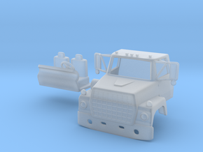 1/87 Ford L900 truck cab with interior  in Smooth Fine Detail Plastic