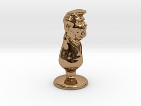 Donald Trump Plug in Polished Brass