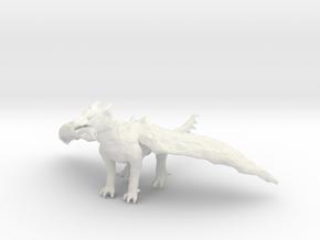 Dragon Statue in White Natural Versatile Plastic