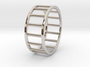 Albaro Ring Size-13 in Rhodium Plated Brass